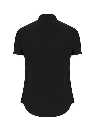 Emporio Armani  Slim Fit Pamuklu Gömlek Erkek Gömlek 8N1C10 1N06Z 0999 Siyah
